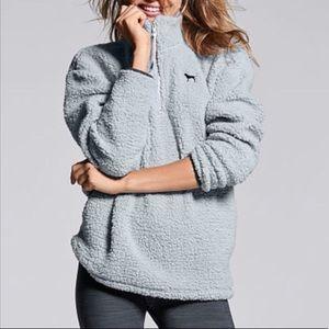 VictoriaSecret Pink Pullover Fleece Sherpa Jacket